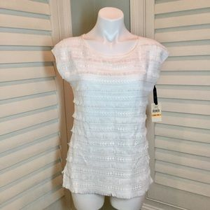NWT, Emaline Pleated Front Dressy Tank, Small